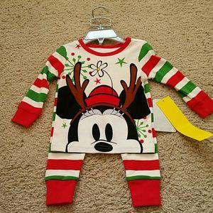 NWT Disney Minnie Mouse Pajamas 9-12 months